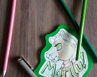 Custom Fursona Badge