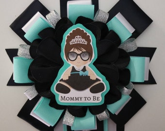 Audrey Hepburn / Tiffany & Co Baby Shower Theme Mommy to Be Corsage
