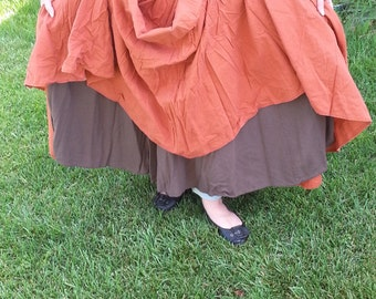 Renaissance SCA Pirate Steampunk LARP fantasy wench peasant drawstring skirt