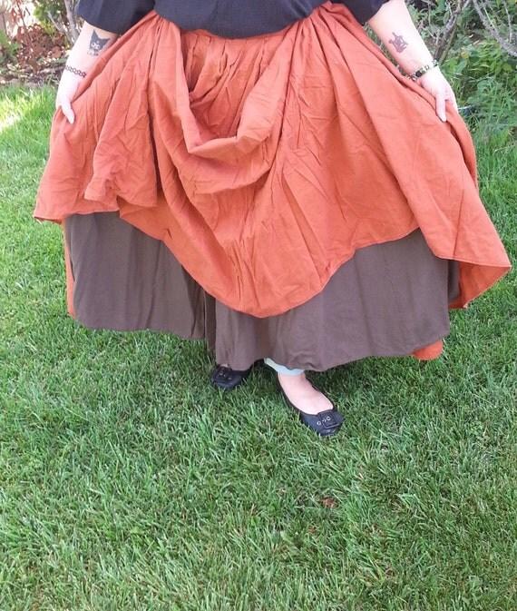 Renaissance SCA Pirate Steampunk LARP fantasy wench peasant drawstring skirt