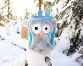 Forget-me-not Furry Owl Chalk Bag