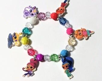 Shimmer and Shine Charm Bracelet, Shimmer and Shine Party Favor Charm Bracelet, Shimmer and Shine Birthday Favor, Girls Charm Bracelet