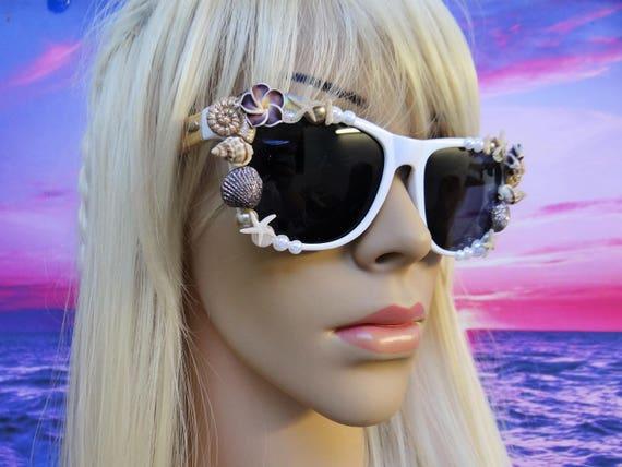 BAMBOO FRAMES I'm Really A MERMAID Sunglasses Sun Glasses Sunnies Wayfarers Aviators Im Ariel Beach Sea Ocean Nautical Pinup The Little A045