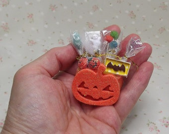 miniature halloween candy filled baskets miniature dollhouse halloween decorations barbie halloween accessories halloween - Miniature Halloween Decorations