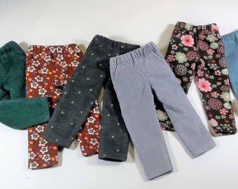 14.5 inch doll clothes, corduroy jeans, pants, solids or prints, to fit Wellie Wisher dolls