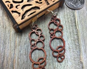 Laser cut wood earrings #9