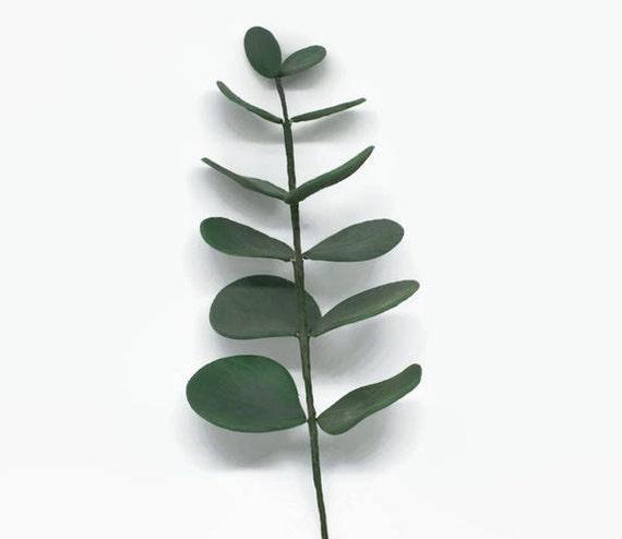 Eucalyptus leaf Spray dark green foliage for wedding cake toppers, gumpaste cake decorations, diy brides, bridal showers, wedding greenery