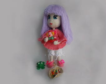 Violet Crochet Doll MADE TO ORDER