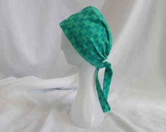 Teal Cats Surgical Scrub Cap Dental Chemo Hat