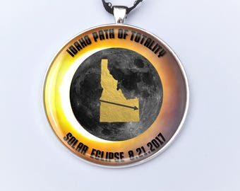 """Idaho Path of Totality Total Solar Eclipse 2017 Ornament - 2"""" Ashton Idaho Falls Total Solar Eclipse- Car Rear View Mirror Ornament"""