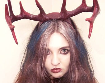 Satyre Antlers Cosplay Horns 3D Printed Costume Horns