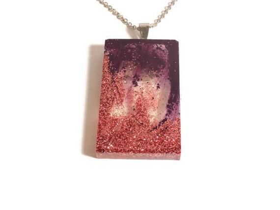 Violet Spark Pendant Necklace