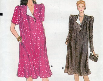 FREE US SHIP Vogue 8959 Vintage Retro 1980s 80s Loose Fitting Maternity Dress Size 8 10 12 Uncut Sewing Pattern Pullover Bust 30 31 32