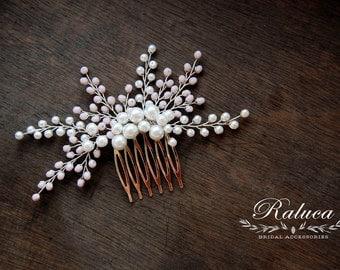 Bridal Comb - Pearls and Crystals