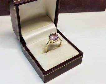 Ring gold 333 Amethyst vintage elegant classically elegant GR314