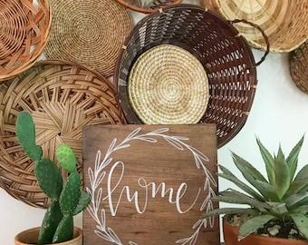 Home Wood Sign, Home Sweet Home, Rustic Decor, Home, Farmhouse Style, Farmhouse Decor, Hand Drawn, Handwritten, Handmade, Gift Giving, Decor
