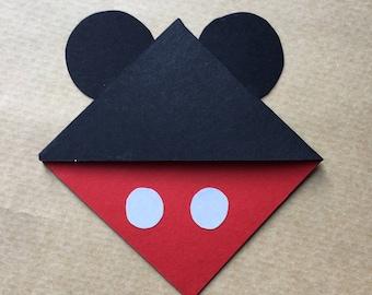 Mickey Mouse Corner Bookmark