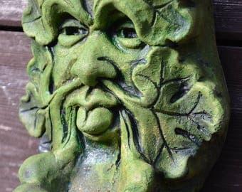 Bamberg Green Man Cast Stone Leaf Face Greenman Garden