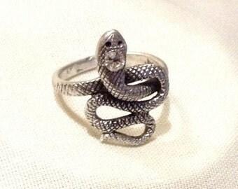 Vintage 925 Snake Ring, Statement Ring, Cleopatra Ring, Egyptian Ring 1725-2