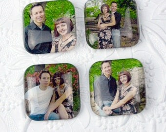 Personalized Magnets - Set of Four 35mm Squares       Personalized Gifts Personalized Items Personalized Photo Gifts Photo Gifts Photo Items