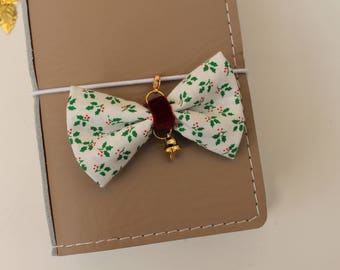 Holly & bell -fabric bow traveler's notebook charm