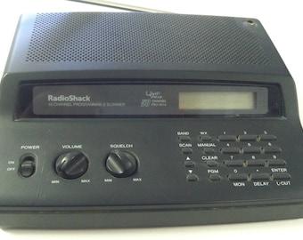 Vintage Retro RadioShack 50 Channel Programmable Scanner Radio Shack UHF V Hi-Lo Pro-2014 Scanning Receiver 20-420