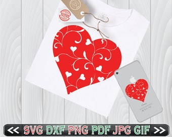 Floral Heart SVG Files for Cutting Cricut Flower Designs - SVG Files for Silhouette - Instant Download