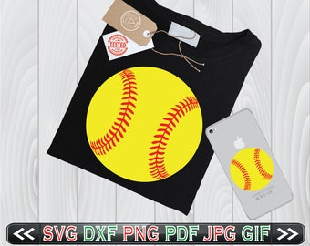 Softball SVG Files for Cutting Sports Cricut Designs - SVG Files for Silhouette - Instant Download