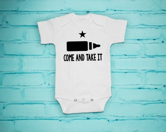 Newborn outfit, Come and Take It, Texas Pride,  Custom Baby outfit, Newborn gift set, Newborn boy outfit, Newborn Texas outfit, Baby girl
