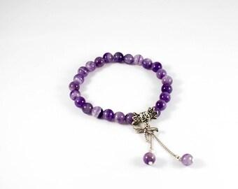 To order - Crystal Bracelet Amethyst genuine and stars