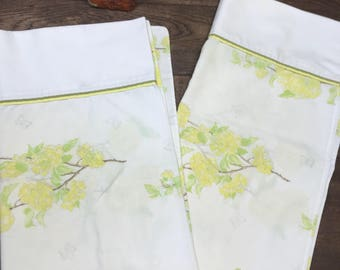 Vintage Pillowcase Set of 2 King Size Percale Wamsutta Ultracale