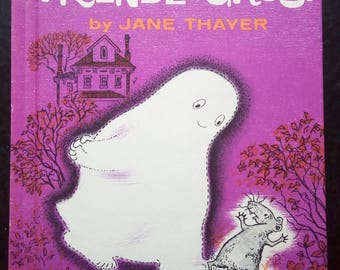 1962 Gus the Friendly Ghost  by Jane Thayer, Classic Gus the Ghost Hardcover, Weekly Reader, VGUC, No flaws, About making new friends