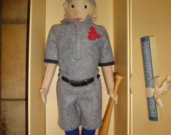 Coming in soon: STEIFF felt doll Baseball player 411656 ! replica 1994 comes with box Rare collectible only 1200 pcs made