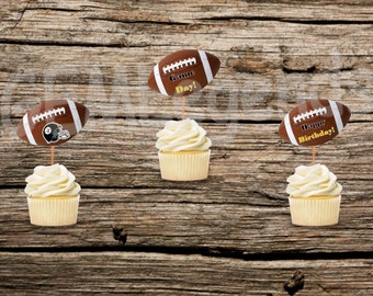 Pittsburg Steelers Cupcake Toppers, Steelers Cupcake Toppers, Steelers Birthday Party, Steelerss Party,NFL Party, NFL Birthday,Instant Print