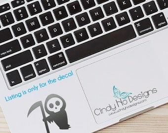 Cute Little Grim Reaper Decal / Sticker - Kawaii - Macbooks, iPhones, iPad, Tablet, Halloween, Car Windows