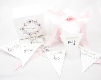 Bridesmaid Proposal Box - Engagement Ring