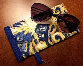 Sunglasses Case - Eyeglasses Case - Glasses Case - TARDIS Glasses Case - Doctor Who Sunglasses Case - Doctor Who Gift