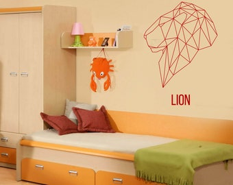 Wall Art Mural Animal Collection Geometric Image Lion Kids Play Room Decor  (#2610dn)