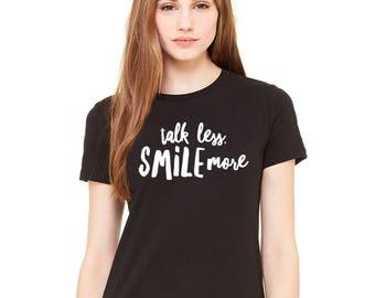 Talk Less Smile More Aaron Burr Hamilton Shirt, Alexander Hamilton Quotes, Hamilton Musical, Hamilton Broadway, Hamilton Gift Ideas Teens