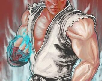 Ryu - Street Fighter - Digital Art Print