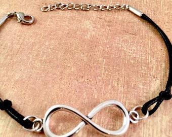 Infinity Bracelet, Couples bracelet, Girlfriend Bracelet, Mother Daughter, Gift for her