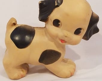 Vintage 1950s Rubber Squeaky Toy Ruth E Newton Dog Puppy. Vintage Rubber Toys. Sun Rubber Company