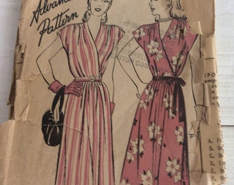 1940s Vintage Sewing Pattern - Advance 4285 - UK Size Bust 36 inches - Vintage Dress Pattern - Vintage Sun Dress Pattern - Sewing Pattern