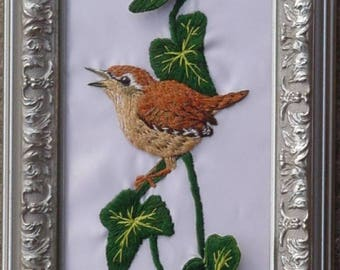 Wren Stumpwork Embroidery Kit
