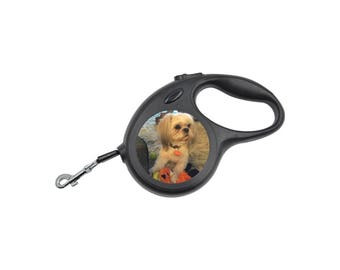 Personalized Retractable Pet Leash Customized w/ Your Pet's Picture