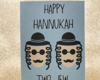 Happy Hanukkah Two Jew