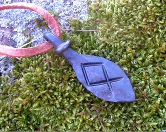 Forged Othala rune,Obila rune  Viking pendant, amulet, protection amulet, Nordic Talisman,Necklace talisman