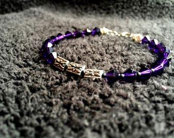 Purple Butterfly Bracelet