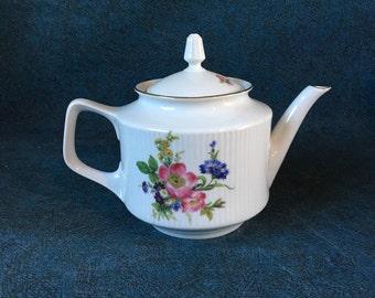 Vintage Bareuther Waldsassen Bavarian Floral Teapot