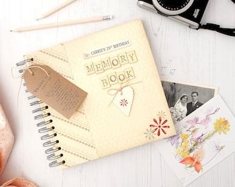 Keepsake Album - Personalised Memories Keepsake Album - Memory Scrapbook - Keepsake Book - Personalised Scrapbook